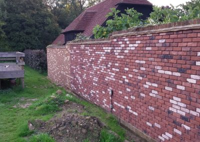 Red Leaf Farm Brick lips to cover existing concrete block wall